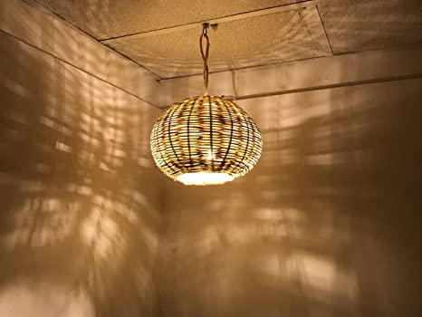 Lampadario marocchino lampada applique lanterna vimini etnico