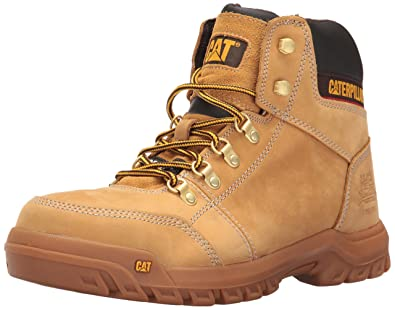 95b2e6a0e63 Amazon.com | Caterpillar Men's Outline Steel Toe Work Boot, Honey ...