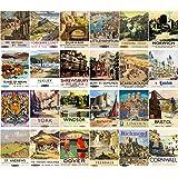 Postcard Set 24pcs British Railways Vintage Travel Posters Ads
