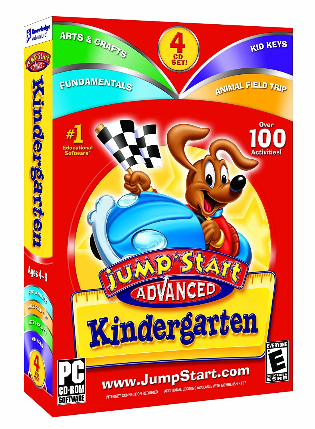 Knowledge adventure inc jumpstart advanced 1st grade v3.0 reading booster expert spelling sm box