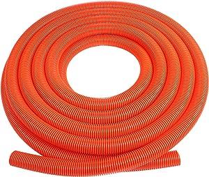 """Cen-Tec Systems 62838 Vacuum Hose with 1.5"""" Diameter, 50', Orange"""