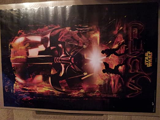 Amazon Com Darth Vader Revenge Of The Sith Duo Vader Helmet 8477 Rare Hard To Find Prints Posters Prints