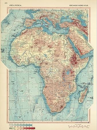 Amazon world atlas map africa physical pergamon world atlas world atlas map africa physical pergamon world atlas 1967 historic antique gumiabroncs Images