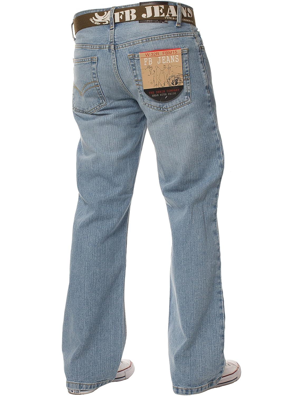 FBM Jeans Pantalon Jean de Travail Denim Bleu pour Homme, Coupe Droite,  Taille Normale, Toutes Tailles de Ceinture  Amazon.fr  Vêtements et  accessoires ede0240e8103