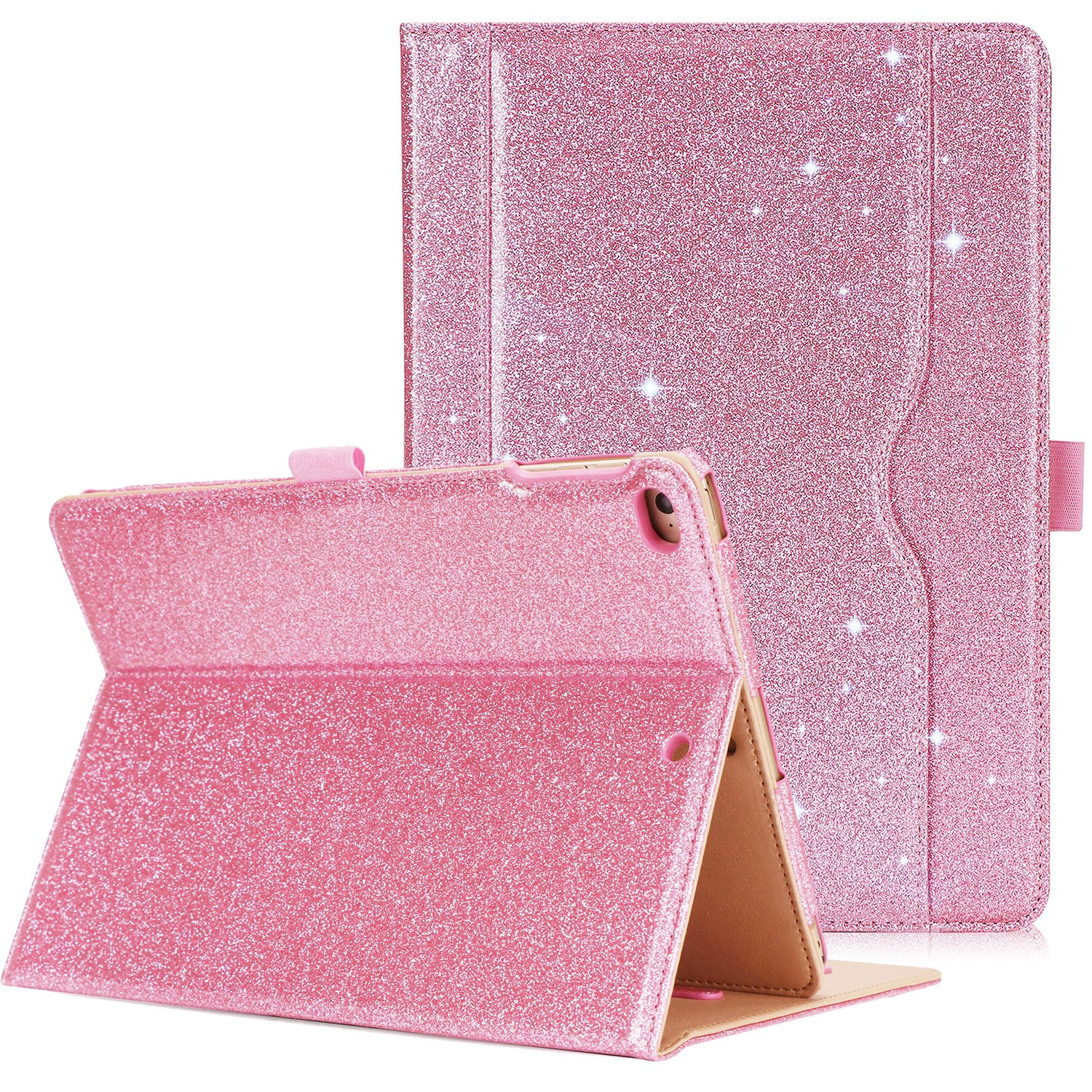ProCase iPad 9.7 Case 2018/2017 iPad Case - Stand Folio Cover Case for Apple iPad 9.7 inch, Also Fit iPad Air 2/iPad Air -Glitter Pink