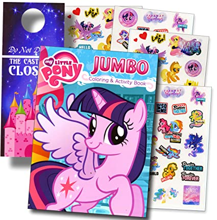 Amazon Com My Little Pony Rarity Coloring Book And Stickers Super