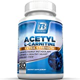 BRI Nutrition Acetyl l-Carnitine - 180 Count 500mg L Carnitine Capsules - 500mg Servings