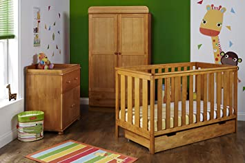 Obaby York Nursery Furniture Set (3 Pieces, Country Pine)