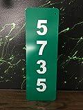 Reflective Green 911 Address Aluminum Sign