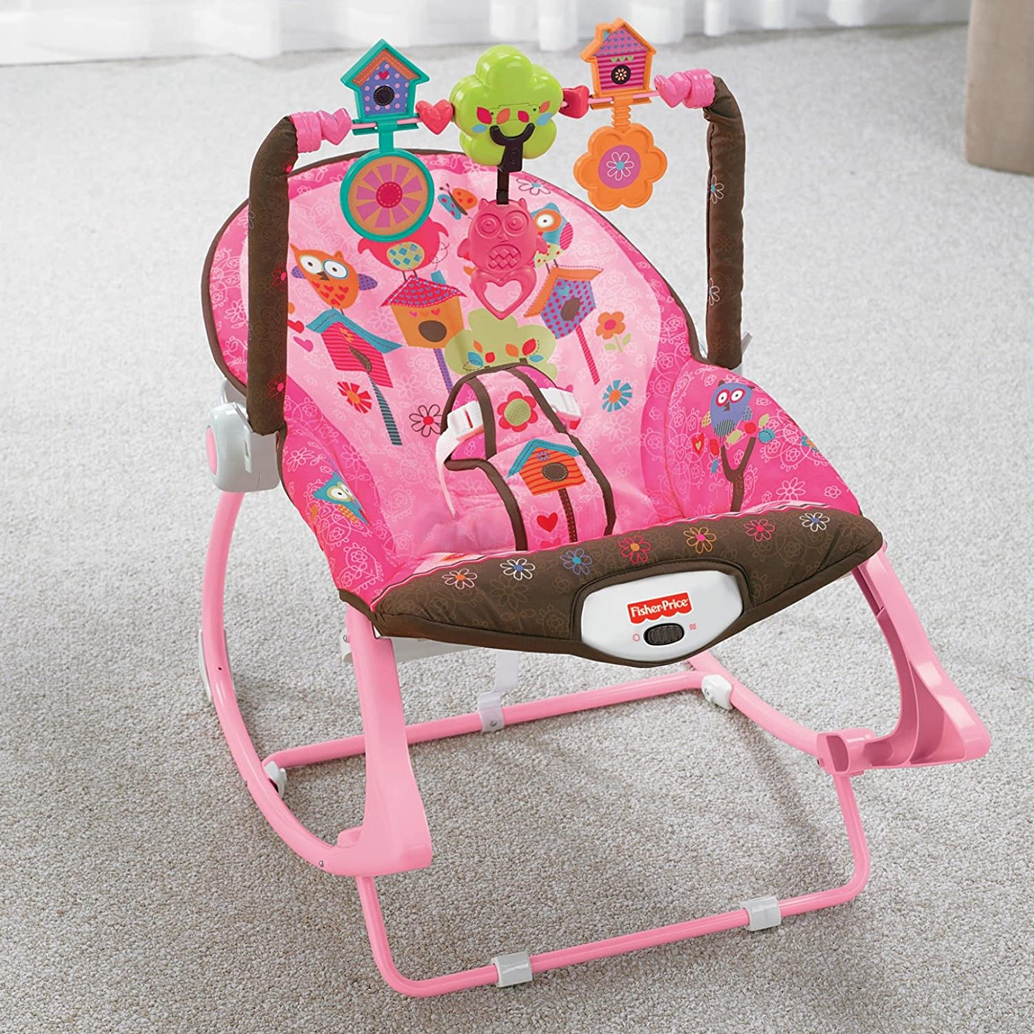 Fisher Price Infant to Toddler Rocker Pink Owls Amazon Baby