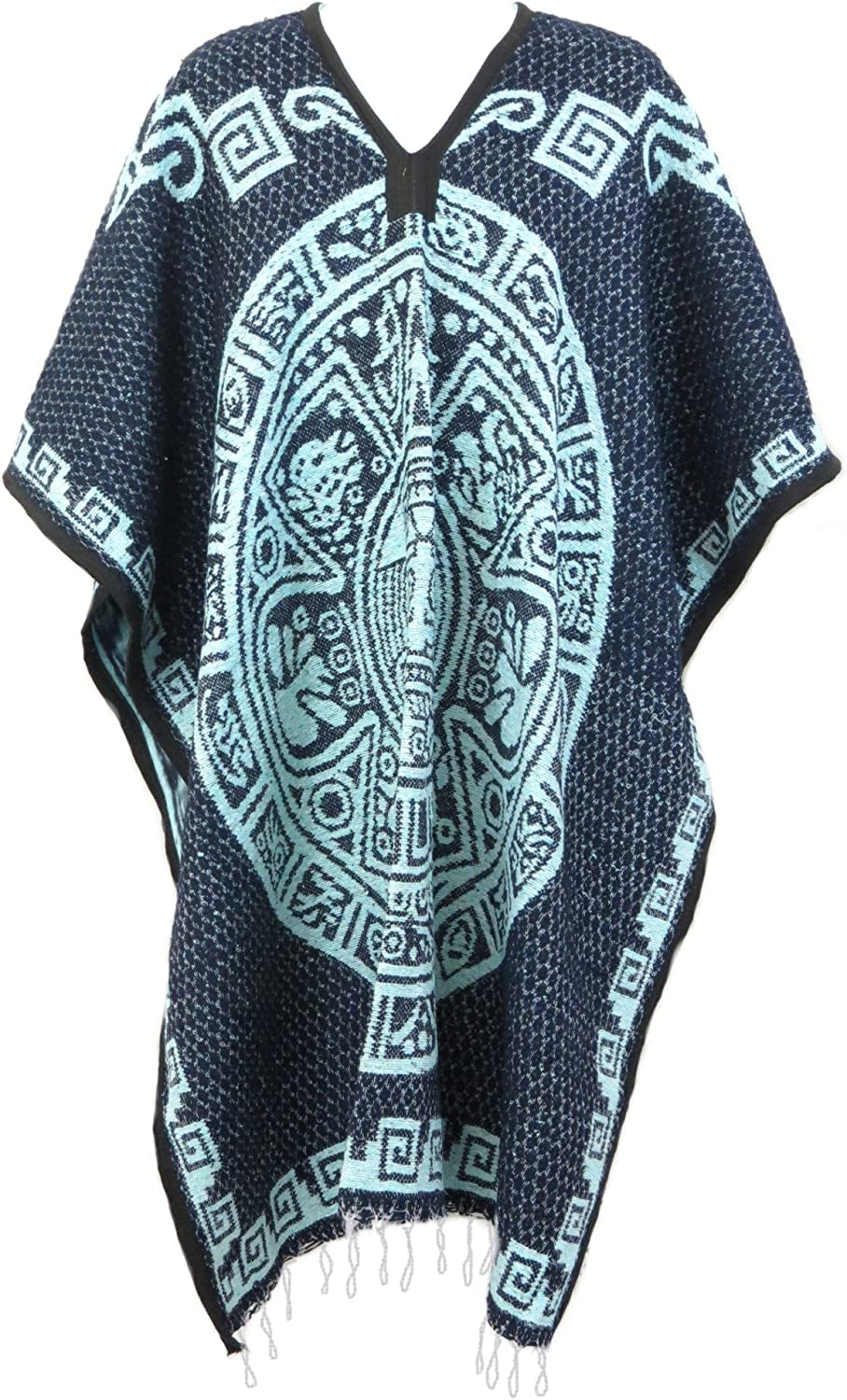 Leos Imports Mexican Poncho...