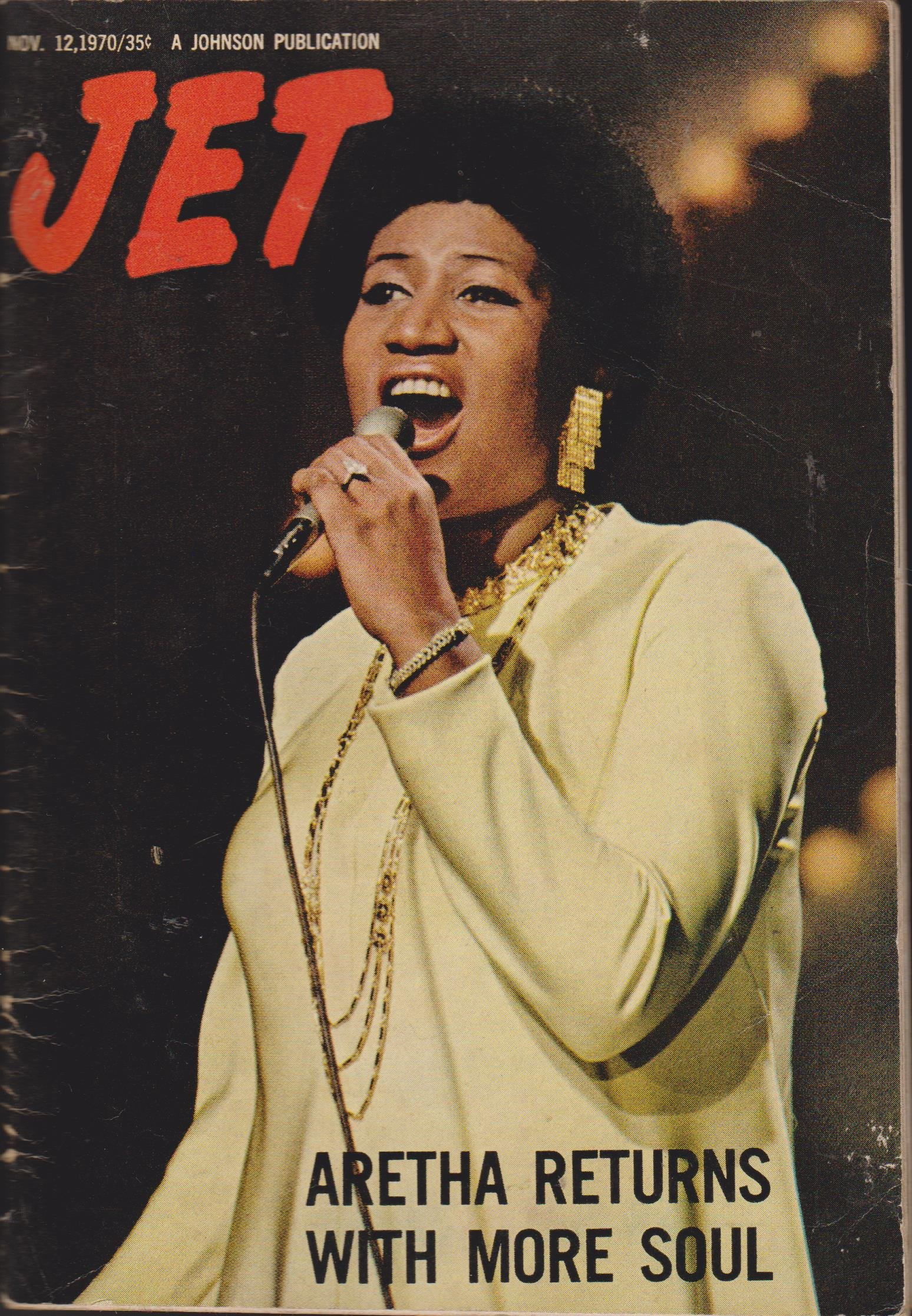 JET MAGAZINE NOVEMBER 12, 1970 *ARETHA FRANKLIN*: Various, Various ...