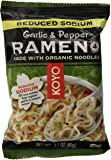 Koyo Reduced Sodium Garlic and Pepper Ramen Made with Organic Noodles, 2.1 Ounce (Pack of 12)
