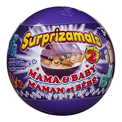Surprizamals, Mama & Baby - Mystery Balls with 2-Collectible Plush Toys (Series 2): Toys & Games