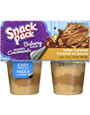 Snack Pack Pudding - Toffee Caramel - 48 Cups Total - (12 x Pack of 4)