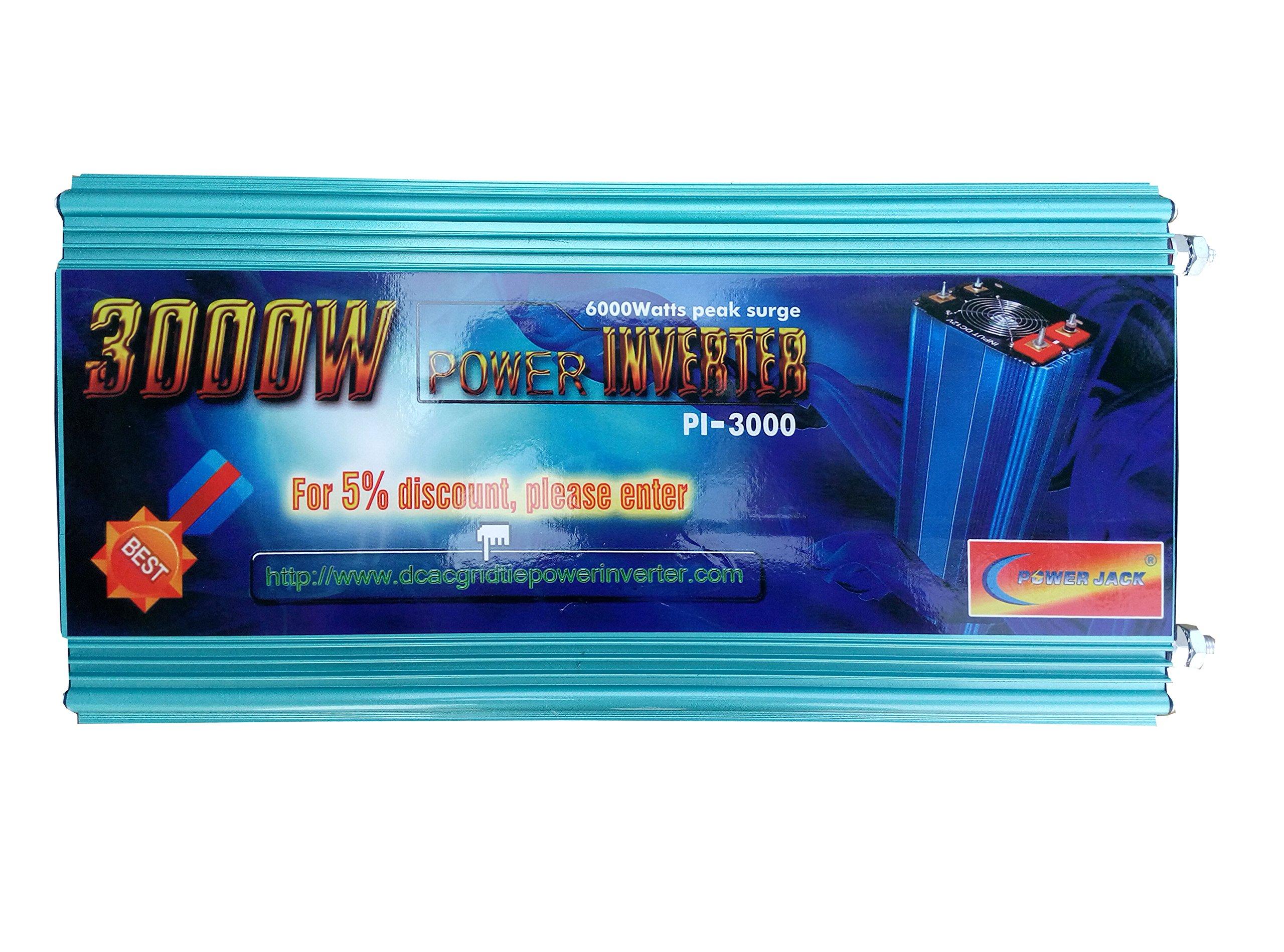 6000W peak 3000W Modified Sine Wave Power Inverter DC 12V to AC 110V 60Hz, Car power tool