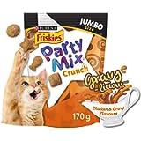 Friskies Party Mix Cat Treats, Gravy-Licious Chicken & Gravy Crunch - 170 g
