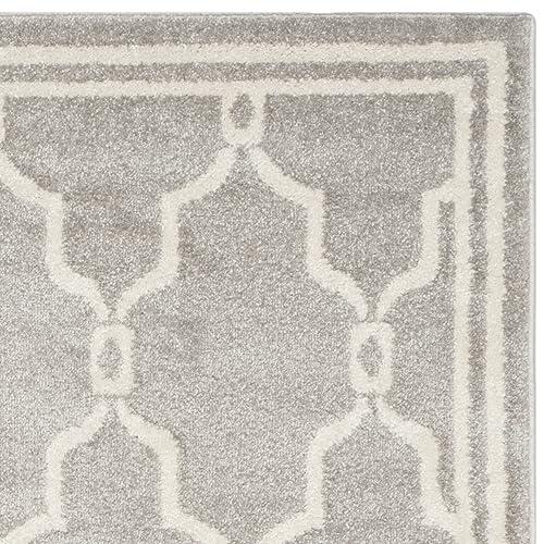 Safavieh Amherst Collection AMT414B Geometric Area Rug, 5 x 8 , Light Grey Ivory