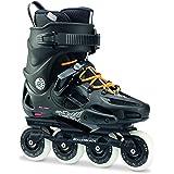 Rollerblade Twister 80 Twincam ILQ 7 Plus Bearings Inline Skates, Black/Urban Orange, US Men's 10