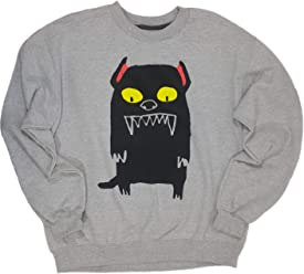 Forever 21 Unisex Scary Pets Dog Graphic Print Pullover Crew Neck Sweater (Large, Dog