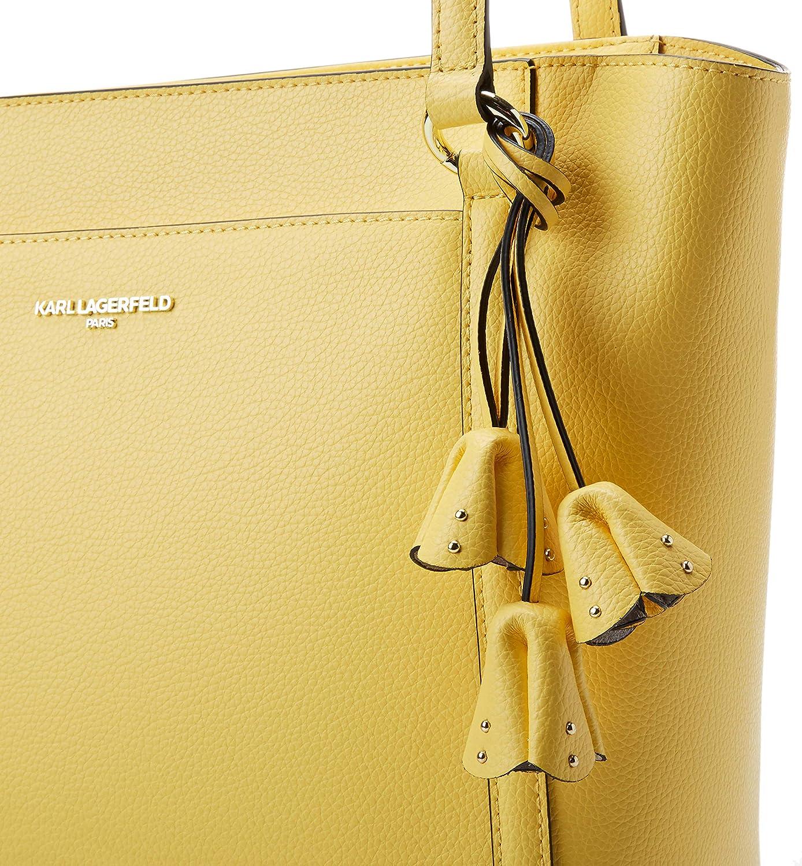 Karl Lagerfeld Paris Damen IRIS HERMINE PRINT N/S TOTE Tragetasche Gelb (Lemon Zest)