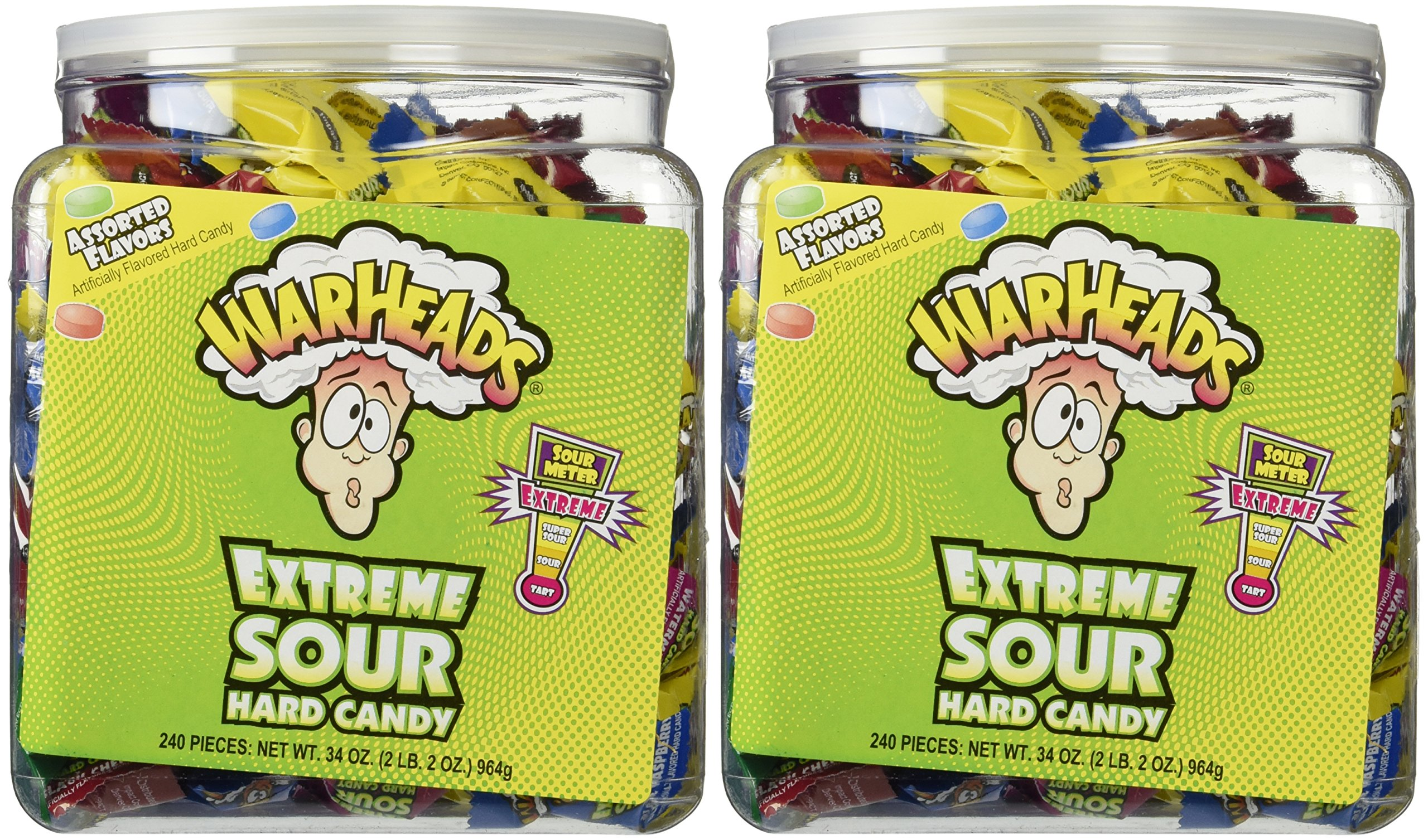 Warheads Extreme Sour Hard Candy (Pack of 480)