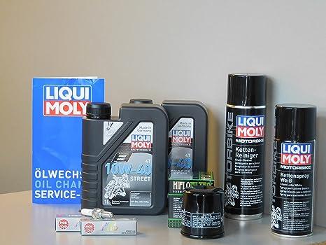 Kit de mantenimiento Kawasaki KLE 650 VERSYS aceite de aceite Cadena Bujía Service