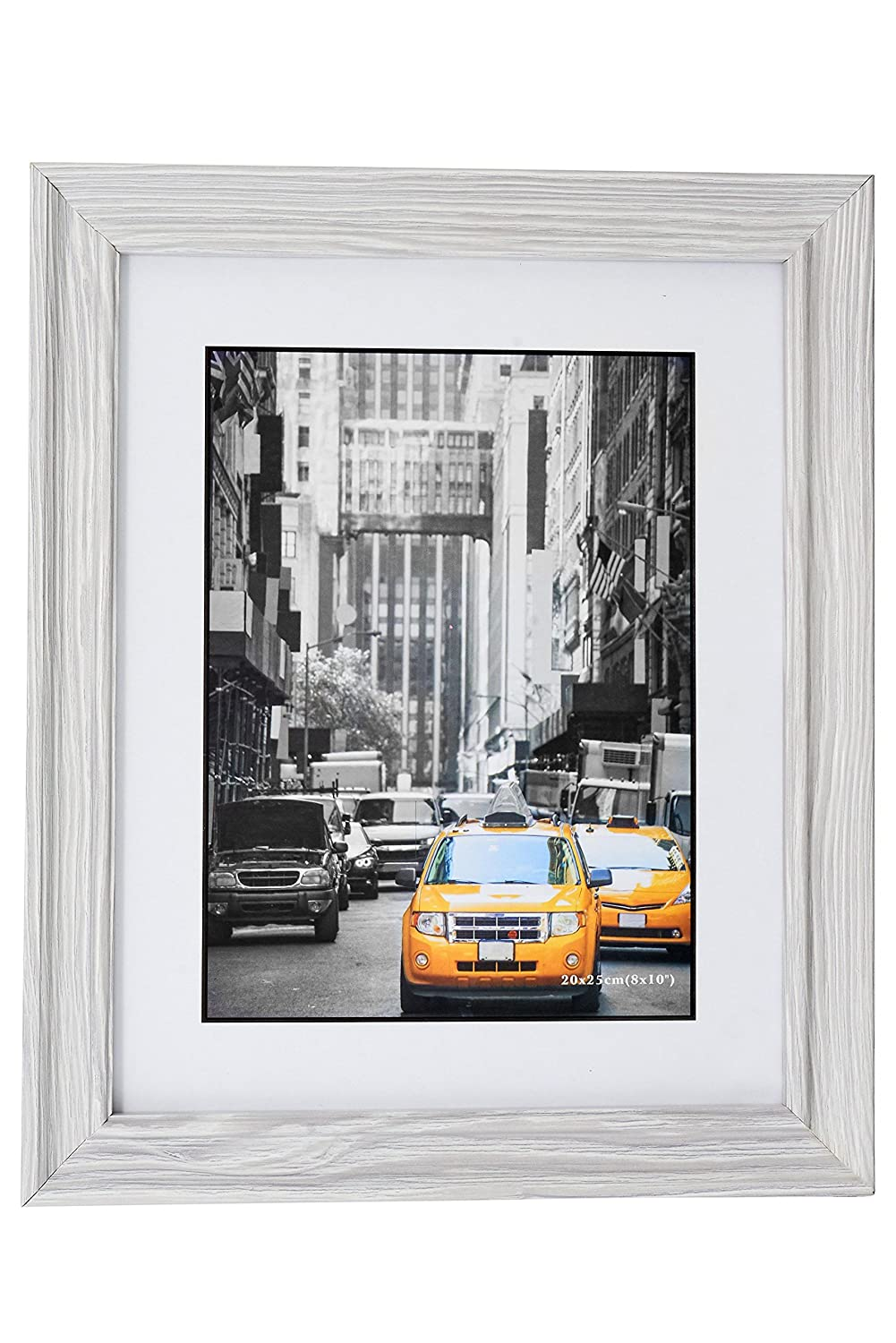 Marble Gray Wood Picture Frame 4X6 (2pc) Photo Display with Glass Front, Easel Back, Hanging Clip | 2 PIECE SET Lambert Frame 1607