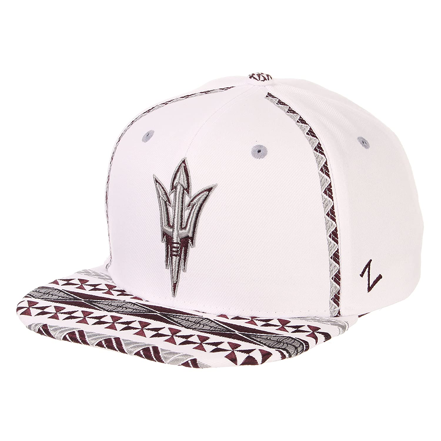 brand new ae302 9c390 spain cap store online 1f668 a46b5  australia amazon zhats ncaa arizona  state sun devils mens pukalani snapback hat adjustable white sports outdoors