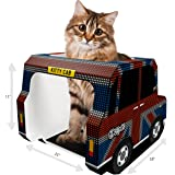 CAT HOUSE, CONDO & CATS CAVE – Top Rated Cardboard Tower for Scratching, Sleep or Play – FREE Toys & EBook included – Pet Bed