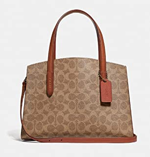 COACH Women s Coated Canvas Signature Charlie 28 Carryall B4 Rust One Size e44ce856e3553