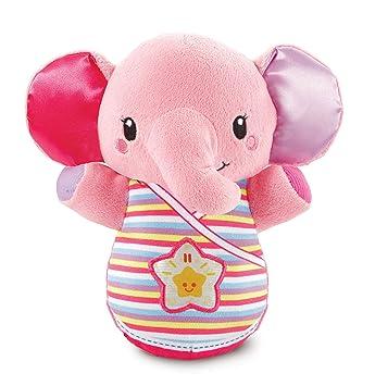 VTech Baby Trompito, Elefante de Peluche para bebé, Musical, luz de Noche,