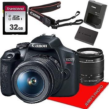 Amazon.com: Cámara réflex Canon EOS Rebel T7 con objetivo EF ...