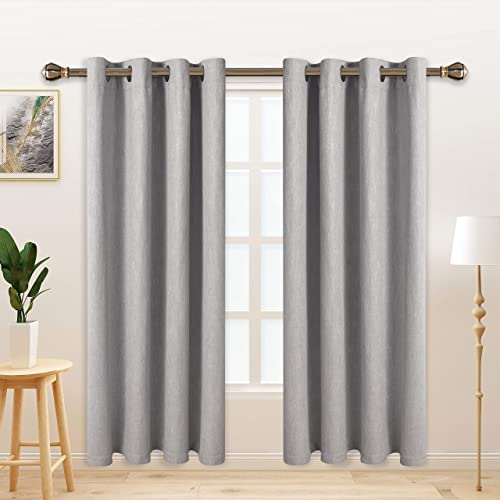 Cheap LORDTEX Burlap Linen Look Textured Blackout Curtains window curtain panel for sale