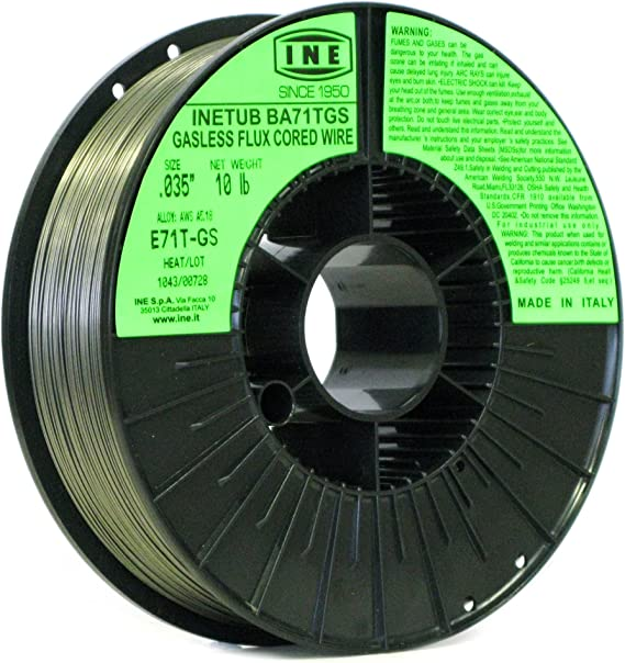 INETUB BA71TGS .035-Inch on 10-Pound Spool Carbon Steel Gasless Flux Cored Welding Wire