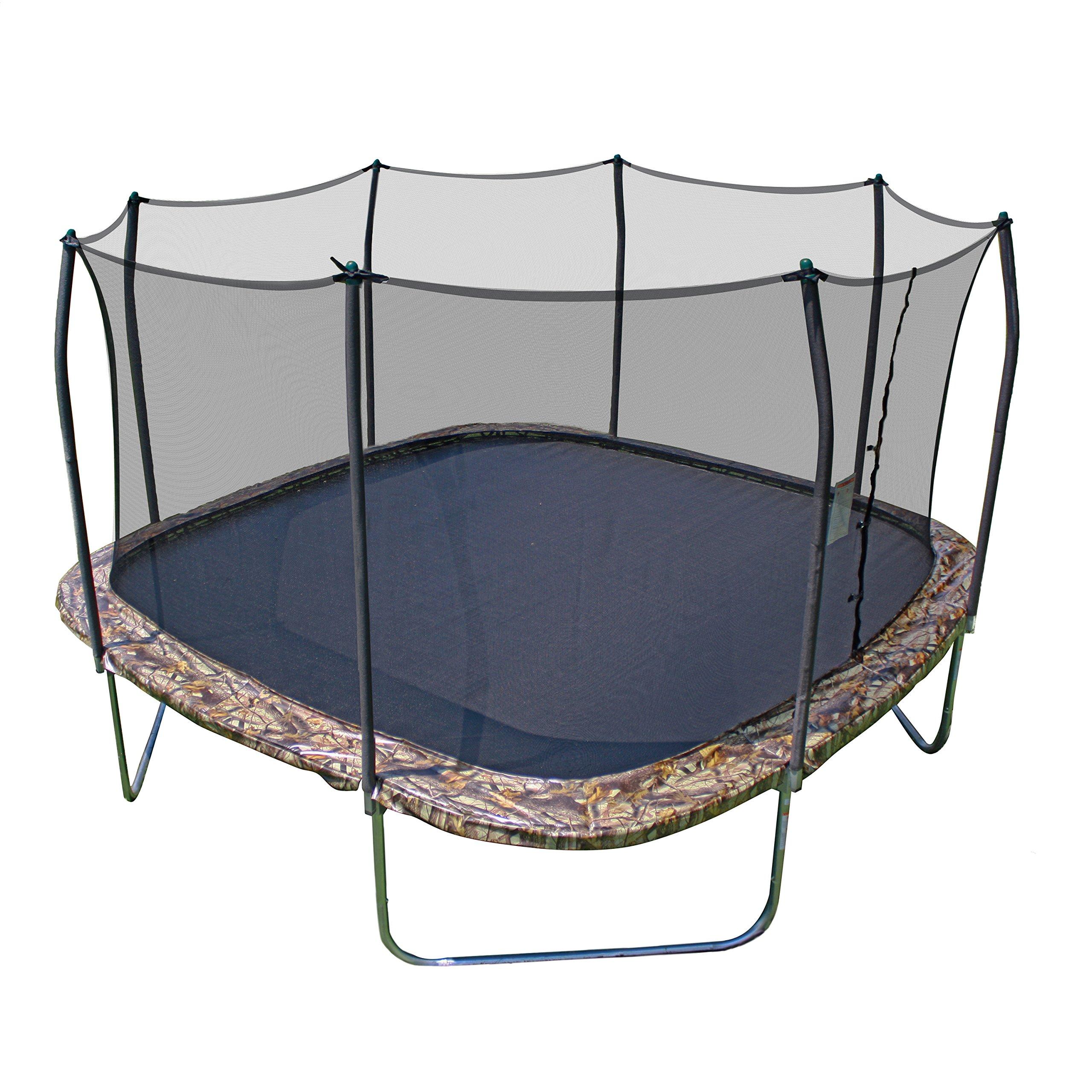 Skywalker Trampolines 14' Square Trampoline with Enclosure – Camo