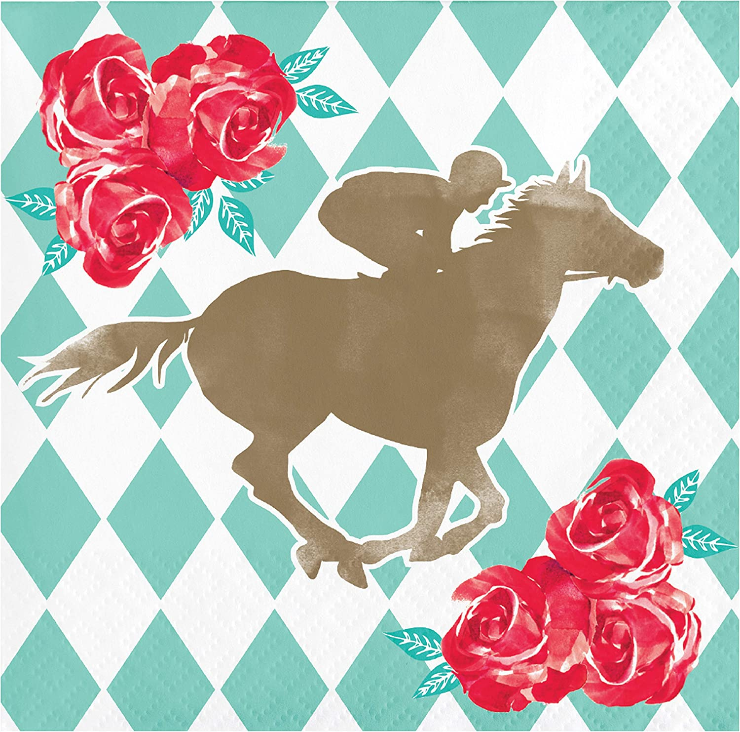Horse Racing and Kentucky Derby Beverage Napkins, 48 ct