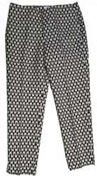 744b236d5 Talbots RSVP Butterfly Print Holiday Trouser Pant Black White Size 6