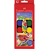 Faber Castell Watercolor Paint Set With Brush - Premium Washable Watercolors for Kids