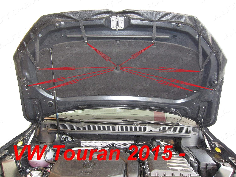 ab 2015 Haubenbra Steinschlagschutz Tuning Bonnet Bra Auto-Bra AB3-00527 kompatibel mit TOURAN II Typ 5T1 Bj