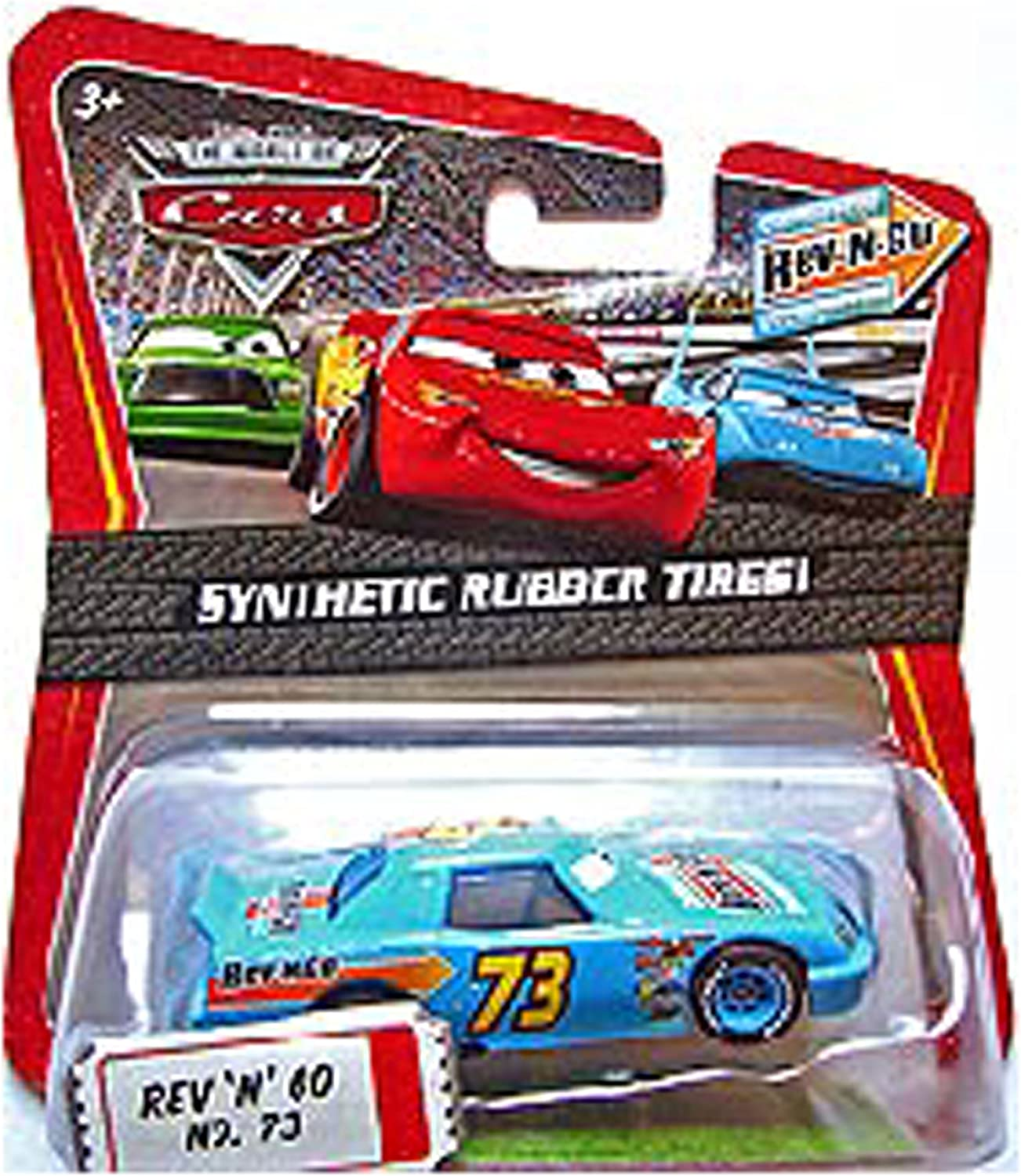 Disney Pixar Cars REV N GO Kmart 3 with rubber tires No.73