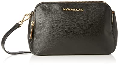 7c533e032342 Michael Kors Womens Bedford Medium Double Zip Cross-Body Bag 001 Black