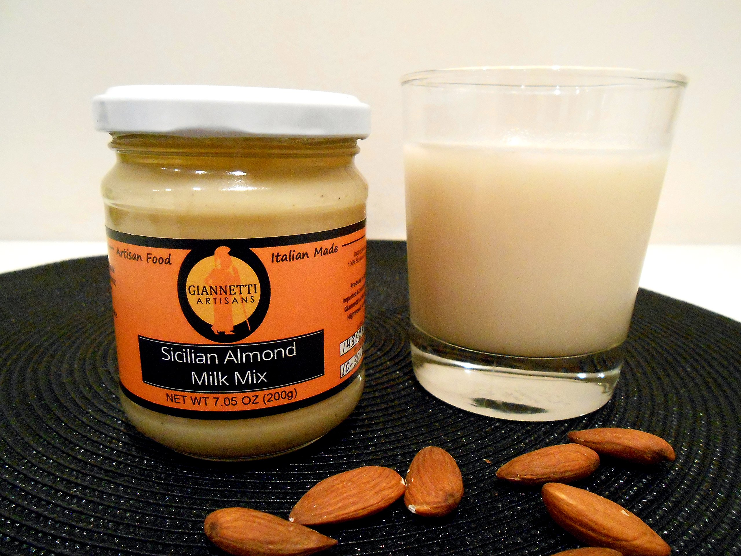 Giannetti Artisans Unsweetened Almond Milk Mix Paste (100% Ground Sicilian Almonds 7.05 oz)