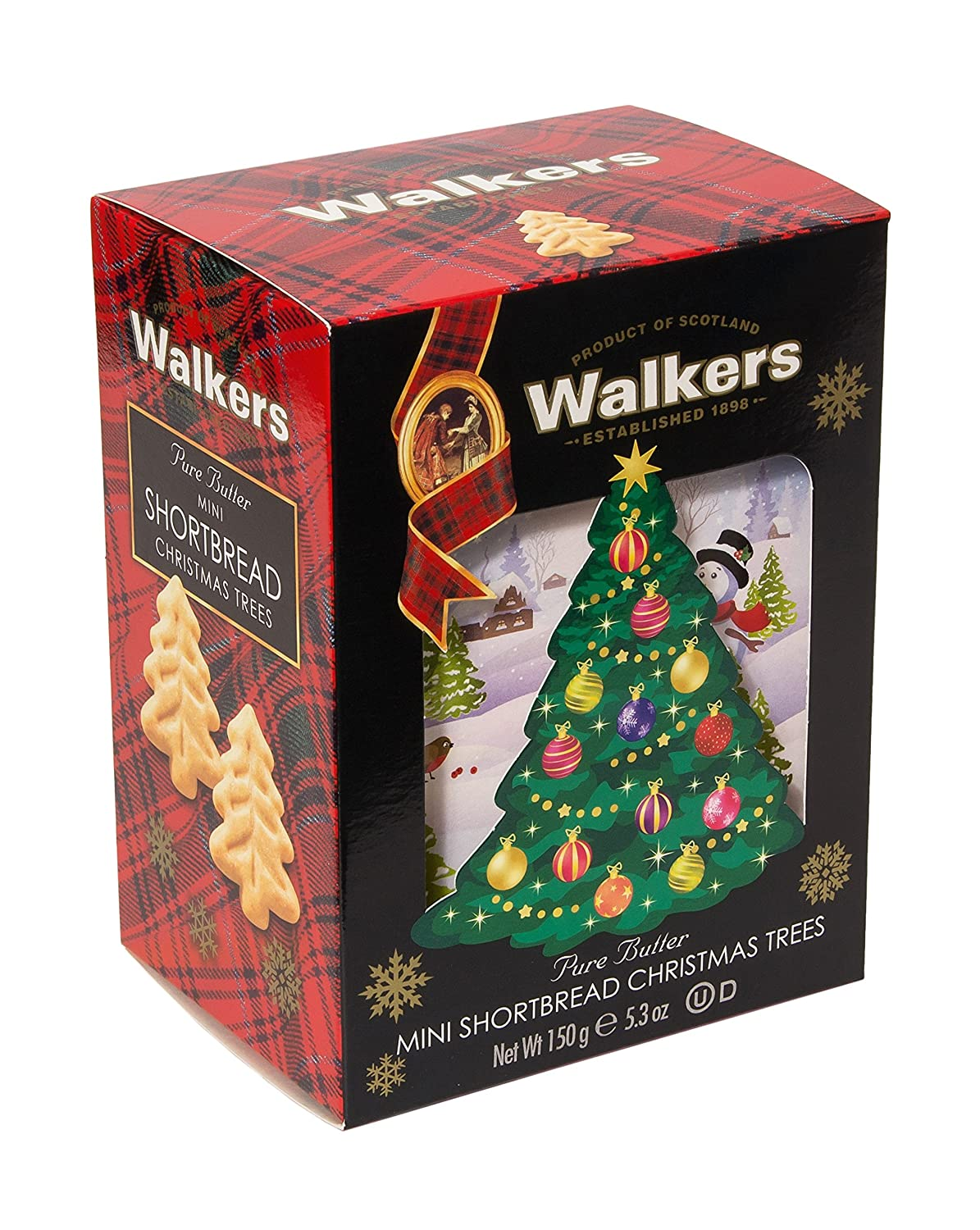 Amazon Com Walkers Shortbread Christmas Tree 3d Carton 5 3 Ounce