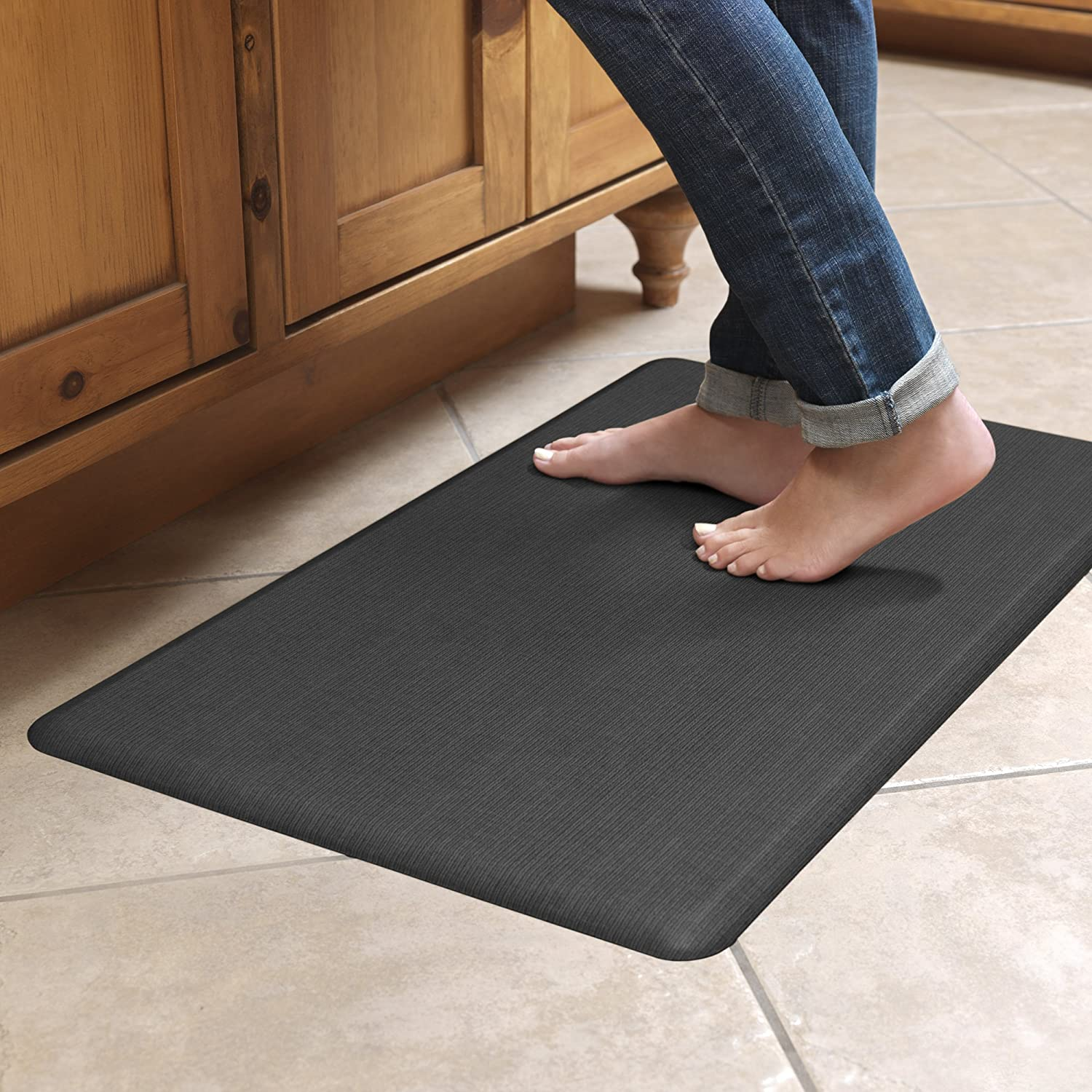 Memory Foam Kitchen Floor Mats Amazoncom Newlife By Gelpro Anti Fatigue Designer Comfort