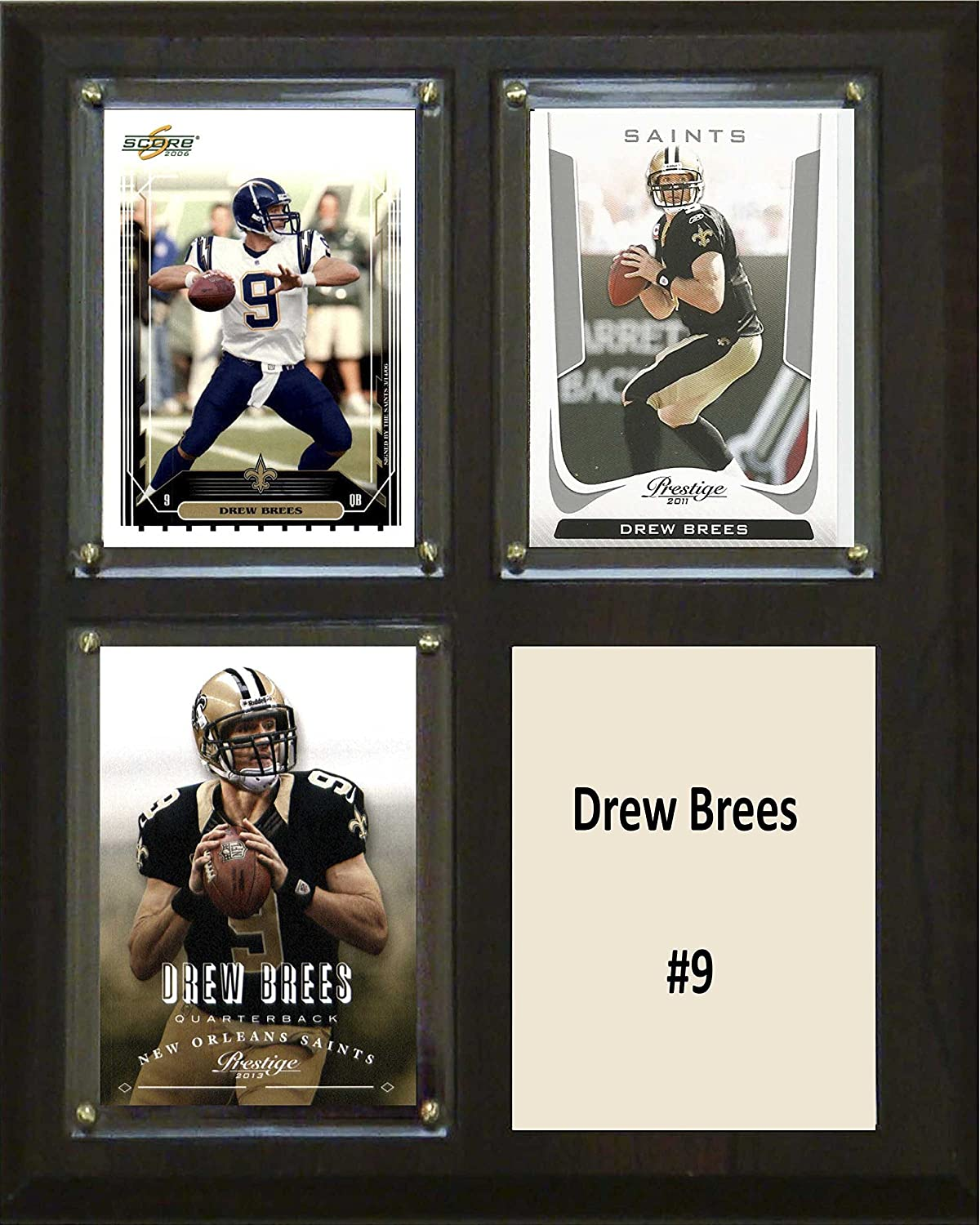 NFL New Orleans Saints Drew Brees Two Card Plaque