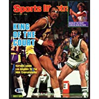$106 » Kareem Abdul-Jabbar Autographed Sports Illustrated Magazine Cover Los Angeles Lakers Beckett BAS #H44482 - Beckett Authentication