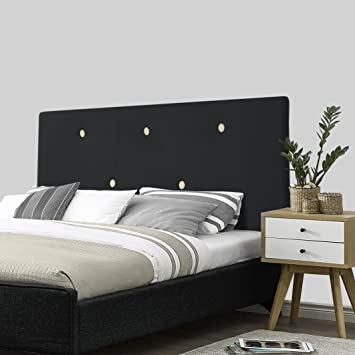 SERMAHOME- Cabecero Alicante tapizado Tela Color Negro botón Beige. Medidas: 160 x 55 x 7 cm (Camas 135, 150 y 160 cm).: Amazon.es: Hogar