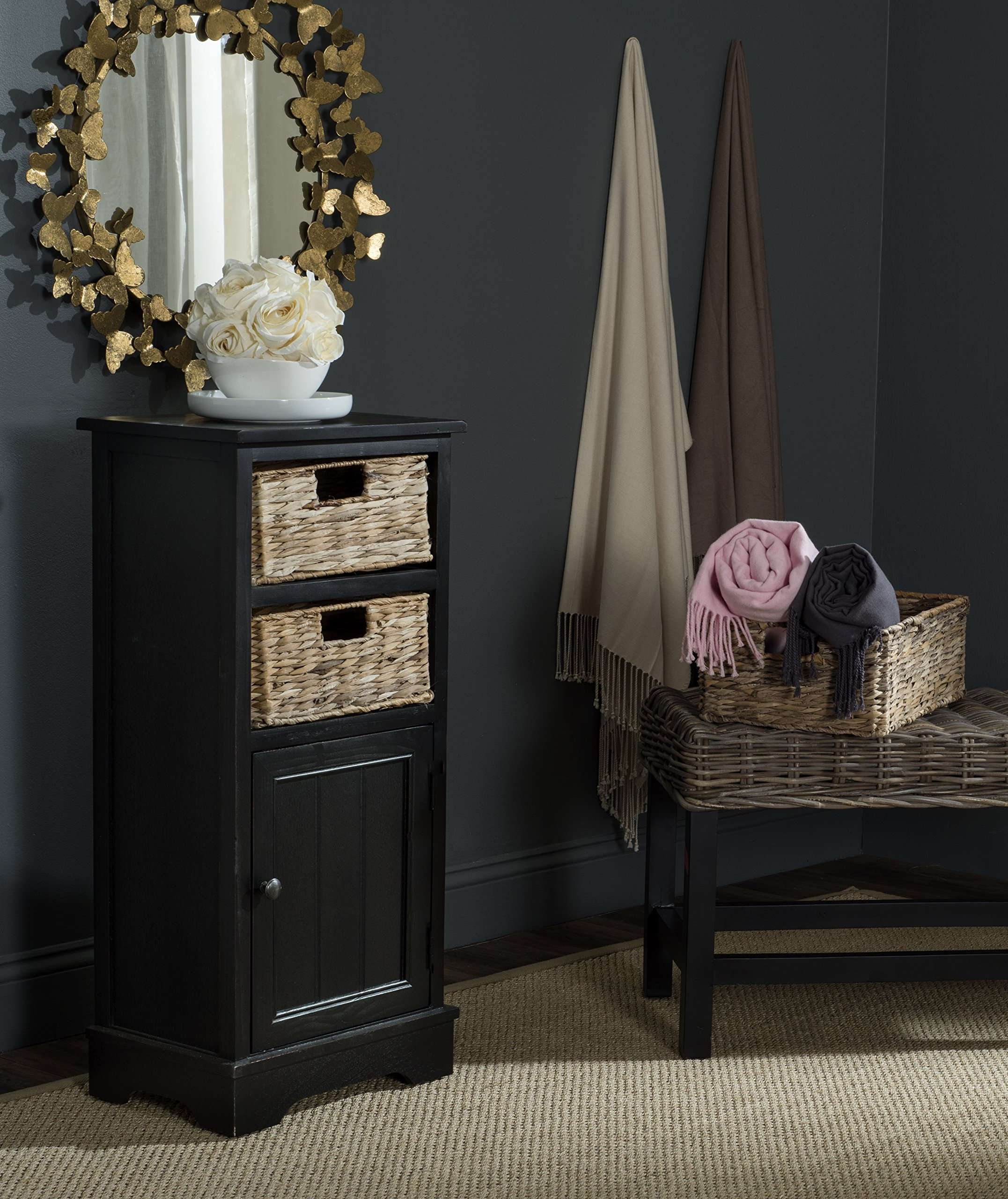 Safavieh American Homes Collection Connery Distressed Black Cabinet by Safavieh