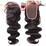 Elva Hair Remy Human Hair Body Wave Lace Top Closure 3.5x4 Natural Color 8''-18''
